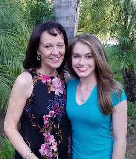 Allison Langley (right) with her mother, Jennifer Langley.