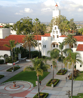 Aerial view of San Diego State University