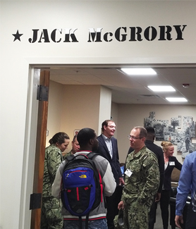 The opening of the Jack McGrory Bunker in SDSU's Joan and Art Barron Veterans Center