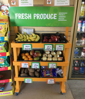 The BrightSide Produce program distributes fresh fruits and vegetables to small food stores and liquor stores in underserved communities.
