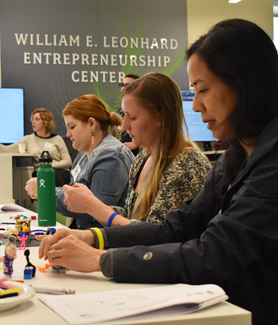 Students participate in an Idea Lab event in March. (Photo: Admon Dallo)
