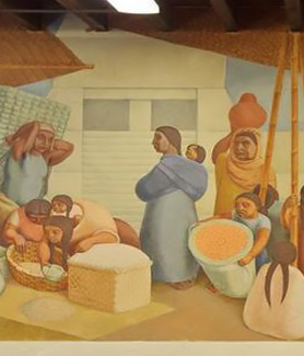 """Market"" mural present day (Courtesy: SDSU Special Collections)"