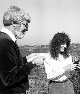 SDSU Graduate School of Public Health researchers test air quality in 1982.