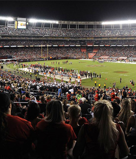 The 2018 SDSU Homecoming game takes place at 7:30 p.m. on Saturday, Oct. 20, at SDCCU Stadium.