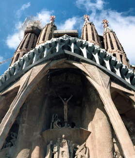 A photo of La Sagrada Familia taken by SDSU student Crystal Monsale