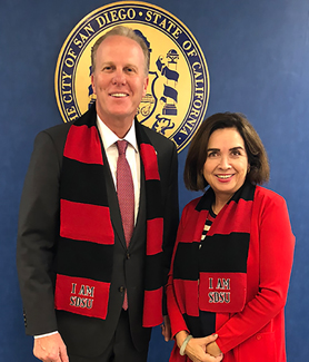 Mayor Faulconer and President de la Torre meet on the future development of SDSU Mission Valley.