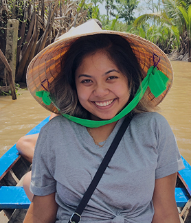 Public health major Cheyanne Crisostomo volunteered in a special needs healthcare and food outreach program in Ho Chi Minh City, Vietnam during summer, 2018.