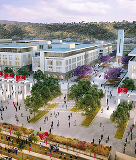 Looking South from Aztec Stadium to the SDSU Innovation District.