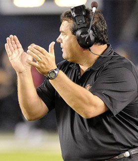 Hoke compiled a 13-12 record in two seasons as head coach for the Aztecs in 2009 and 2010.