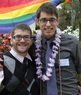 Ira Bauer-Spector (left) and husband, Nathan, at 2011 Lavender Graduation ceremony.