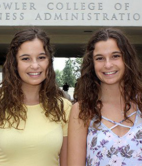 Twins Antonia and Victoria Cannella are graduating after taking every class in their major together at SDSU.