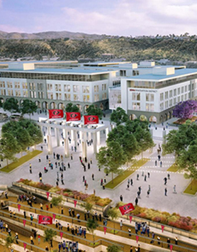 A partnership to manage the stadium component of SDSU Mission Valley was announced.
