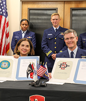 SDSU is now the second school in the state of California to partner with the Coast Guard for the College Student Pre-Commissioning Initiative (CSPI).