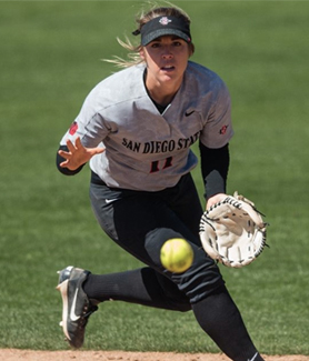 SDSU softball player Katie Byrd