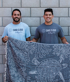 Sand Cloud co-founders Brandon Leibel (left) and Steven Ford (Photo: Brandon Leibel/Sand Cloud)