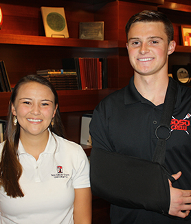 From left to right: Lauren Case-McFate, Cory Erlenbach