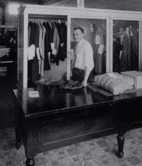 A 1934 dry cleaning shop in International Falls, Minn.