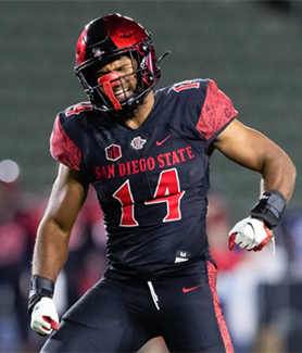 SDSU senior field warrior Tariq Thompson