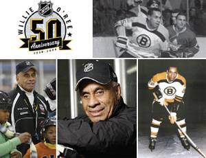 Willie O'Ree broke the color barrier in the NHL in 1958.