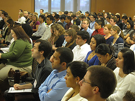 photo: students at the conference