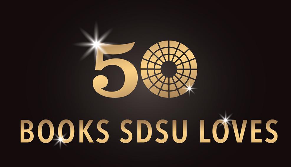 50 books SDSU loves graphic banner