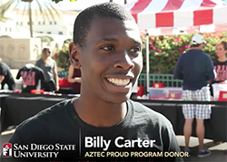 photo: Aztec Proud program donor, Billy Carter