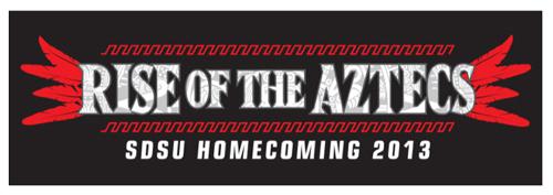Image: Rise of the Aztecs SDSU Homecoming 2013 logo