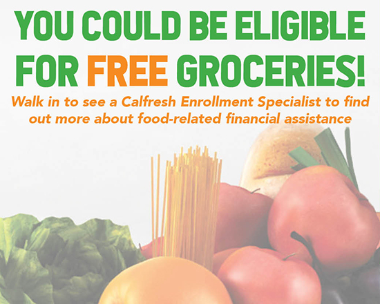 you could be eligible for free groceries. see story for info