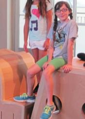 Photo: kids on cardboard furniture