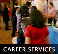 Photo: students at Career Services