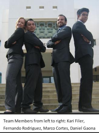Image: Chevy Promo team members Kari Filer, Fernando Rodriguez, Marco Cortes, Daniel Gaona