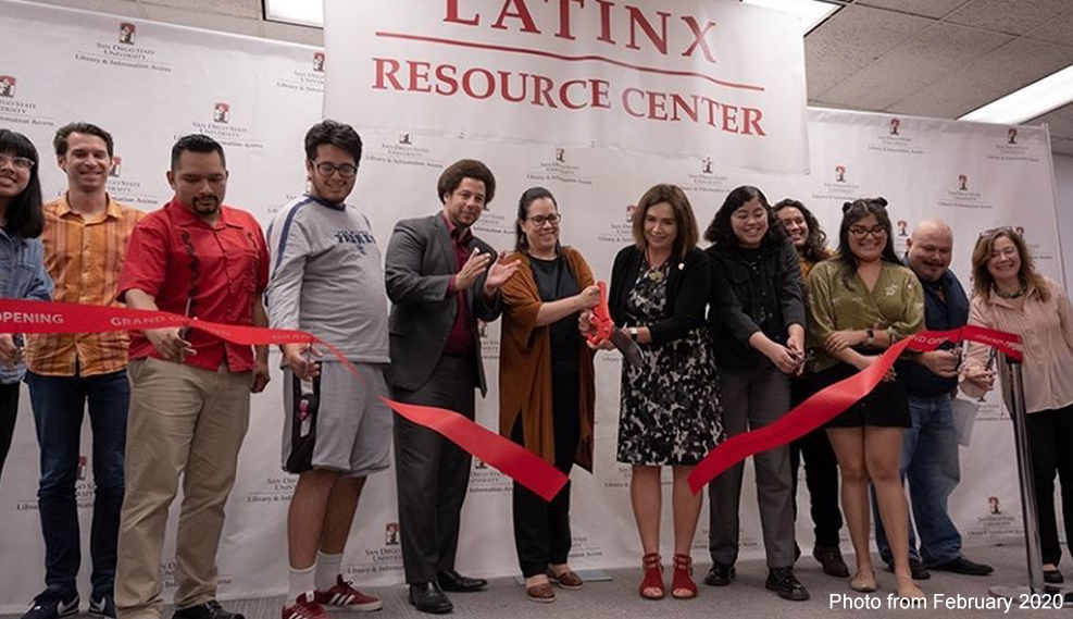Photo of the Latinx Resource Center opening