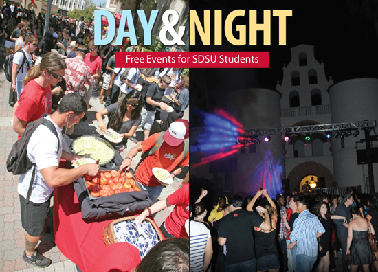 Day and Night - Free Events for SDSU students