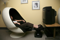 Photo: Center for Well-Being egg chair