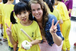 Photo: fulbright student abroad with friend