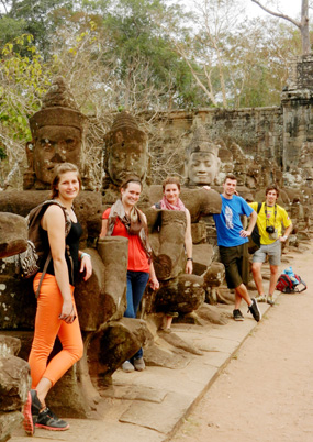 photo of students in Siem Reap, Cambodia