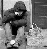 Photo: homeless person on street