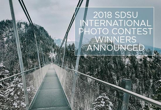 International Photo Contest Winner photo of Austian Alps with snow and bridge