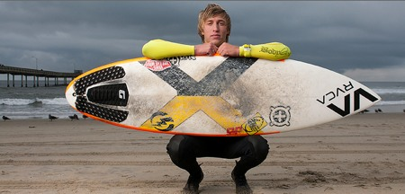 Photo: josh morse with surfboard