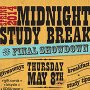 Photo of Midnight Study Break poster