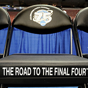 NCAA chair that reads: Road to the Final Four