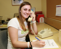 Photo: SDSU student talking on phone