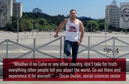 International student Oscar Duran