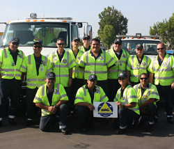 the Freeway Service Patrol Team