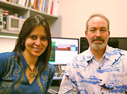 Mahasweta Sarkar and Chris Paolini