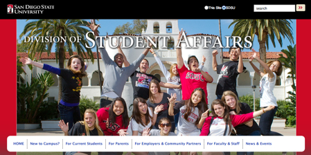 Image: Student Affairs home page