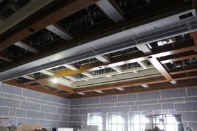 Aztec Student Union construction interior