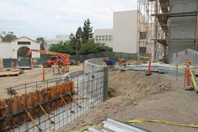 Aztec Student Union construction