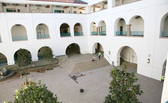 photo: courtyard of the student union