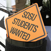 sign: SDSU students wanted
